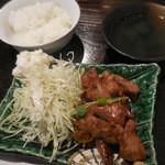 肉料理と地酒の店 居酒屋 新 - 「新」流トンテキ定食(並) 700円