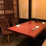 銀平 - 感じの良いテーブル席