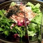 魚馳走亭 ちゃぽん - 和風さっぱりサラダ だったかななあ756円