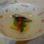 岡山国際ホテル - 鰆の西京焼き、野菜の 炊き合わせ