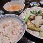 al bacio CHINA - ランチ・イカと高菜炒め
