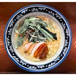 鶏骨スープ 青桐 - 「にごり塩ラーメン」(2016.04)