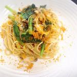 レストラン 花水 - 蝦夷アワビのペペロンチーノ カラスミ風味