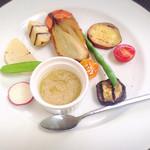 レストラン 花水 - 有機&自然栽培野菜のサラダ