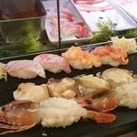 Sushizammai - 石鯛、赤貝、たこ、つぶ貝、特大赤えび