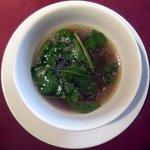 """5085416 - 世田谷""""いきましょうレストラン""""ブリフィックスコース前菜「雑穀とクレソンのスープ」"""