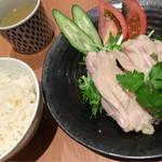海南チキンライスの店 アゴハン - チキンライス もも肉 880円