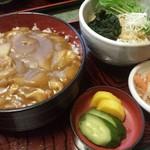 50857867 - カレー丼+たぬきそば