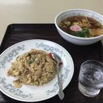 ふじみ食堂 - ポークライスセット 800円