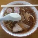 ちどり食堂 - 料理写真:中華そば500円・・・ 箸とレンゲが乗っかって配膳されます・・・the中華そばな面構えが美しいです・・・