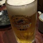 炭火焼の店 きんの藏 - kinnnokura:ビール