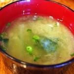 バソキ屋 - Bランチ(味噌汁)