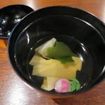 和み茶屋 - 吸物:平ゆばと筍の漬し仕立て