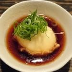ツキトカゲ新町店 - たまごの天ぷらは揚げだし風