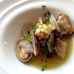 ラ・ロンディネ - 相方 伊勢あさりとサルチー二産粒パスタ フレゴレのスープ仕立て