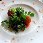 ラ・ロンディネ - 静岡産桜海老のリソットのアランチー二 クレソンのサラダ添え