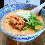 担々麺屋 炎 - 赤坦々麺(大盛り)
