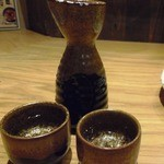 泳ぎイカ 九州炉端 弁慶 - 日本酒
