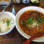 ひすい亭 - 紅麻辣麺700円プラス温玉セット150円
