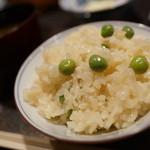 てんぷら膳 - えんどう豆の土鍋メシ