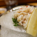 てんぷら膳 - 毛蟹酢