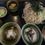 Sobadokoroyashio - 三種そば(クルミ、とろろ、辛味大根)