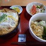 若森 - カツ丼セット 950円