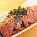 串焼肉と煮込みのお店 きんちゃん - きんちゃんユッケ
