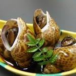 お食事処 多七 - 黒バイ貝の耀色煮