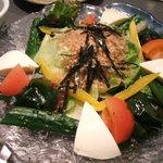 和食鍋処 すし半 - 豆腐と海藻のサラダ¥500
