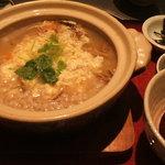 和食鍋処 すし半 - 鶏(赤鶏)の十穀雑炊¥850