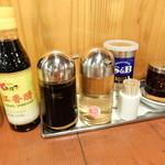 中国ラーメン揚州商人 - 卓上調味料