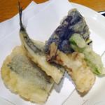 和旬楽 - サヨリと野菜の天婦羅