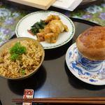 jikka -実家- - タンドリーチキン                             カレーピラフ                             きのこのつぼ焼き
