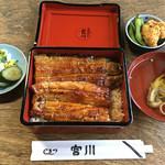鷹番 宮川 - 鰻重 へ(3500円)