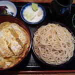 そば処 丸屋 - カツ丼 ミニもりそば セット (¥1000-)
