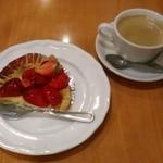 カフェ・ド・ボア - [料理] スィーツSet ¥1,330 全景♪w