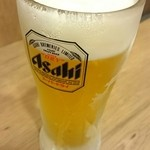 伝説のすた丼屋 - 生ビール。