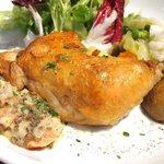 50929643 - 日替りランチ 1000円 の鶏もも肉のコンフィ