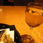 銀座 天一 - 天ぷらには白ワイン。