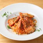 渡り蟹のトマトクリームソース 生パスタのキタッラ