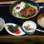 食膳ゆたか家 - 荒挽きハンバーグ定食☆