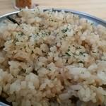 活蟹とシャンパン 牡蠣ベロ - 炊き込みご飯。