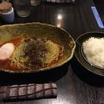 50937625 - 汁なし担担麺3辛と半ライス