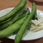 50937741 - 生食用空豆とペコリーノチーズ