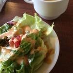 CAFE MOJAVE - ランチセットのサラダとスープ