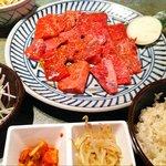 赤門 - ジャンボダブル定食