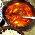 赤門 - 定食のカルビスープ