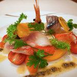 レストラン 拓 - 海鮮と野菜のマリネ