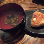 居酒屋 佐香や - 宍道湖のシジミ汁と焼きおにぎり